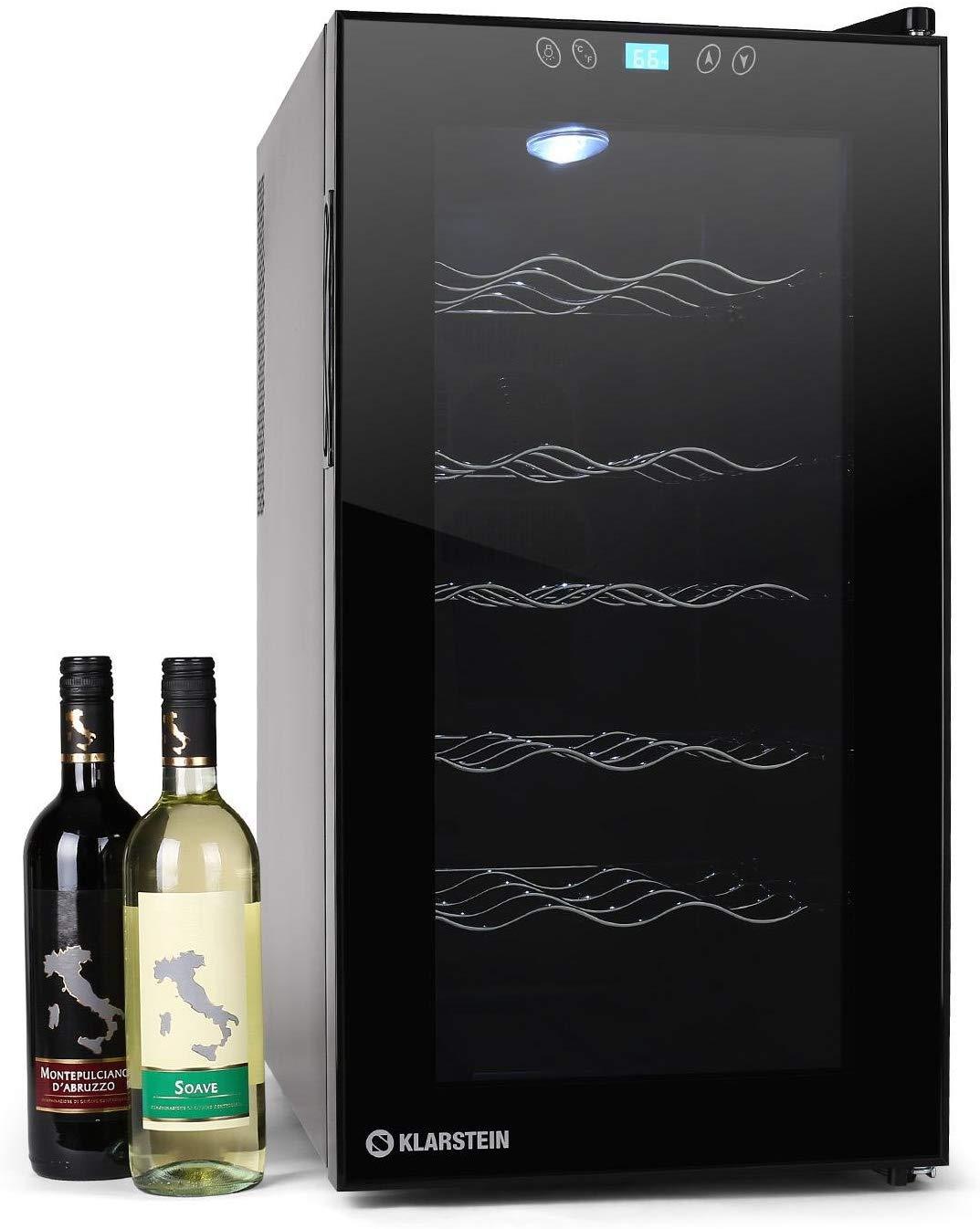 Klarstein Vivo Vino - Cave à vins 18 bouteilles avec lumière LED